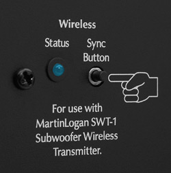 Dynamo 1000 and Dynamo 700 wireless sync button and status light.