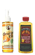 Two well known brands of orange oil.