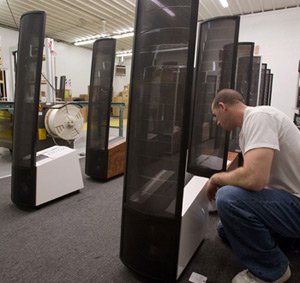 The MartinLogan final packaging department.