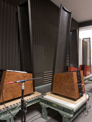 The MartinLogan sonic testing room.