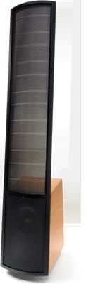 MartinLogan Vantage floor standing hybrid electrostatic speaker.